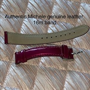 Authentic Michele 16mm genuine leather band